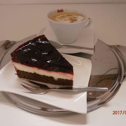 Dortík dle výběru + cappuccino nebo latté pro 1 či 2 osoby