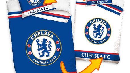 TipTrade Bavlněné povlečení FC Chelsea Double, 140 x 200 cm, 70 x 80 cm