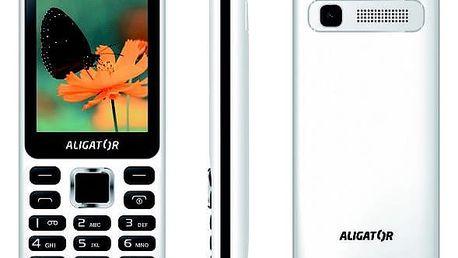 Mobilní telefon Aligator D930 Dual SIM černý/bílý (AD930WB)
