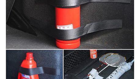 Upevňovací pásky na suchý zip do kufru auta