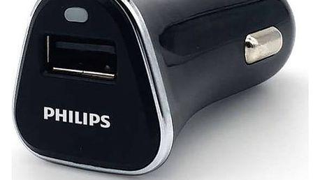 Philips DLP2359, 1x USB, 2,1A (Phil-DLP2359/10) černá