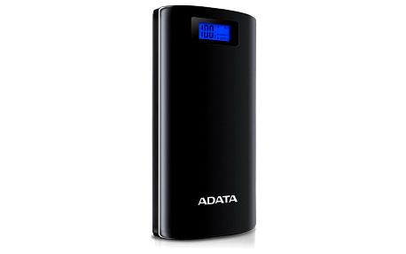 ADATA P20000D Power Bank, 20000mAh, LED svítidlo, černá