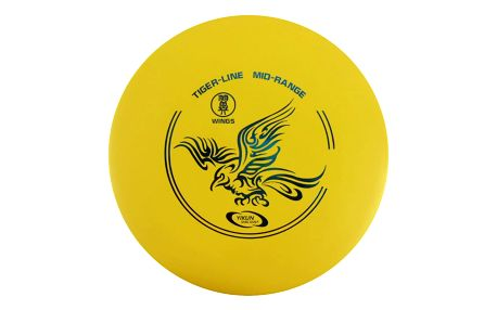 Frisbee Discgolf YAO Midrange Tiger Line yellow