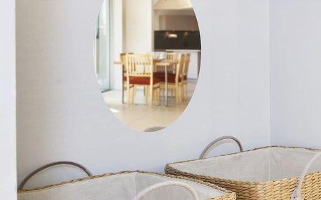 Zrcadlová adhezivní samolepka Ambiance Oval, 42 x 27 cm
