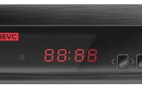 DVB-T2 přijímač ALMA 2800 s DVB-T2 s HEVC (H.265) černý