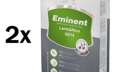 Eminent Lamb&Rice 2 x 15 kg + 2 kg ZDARMA
