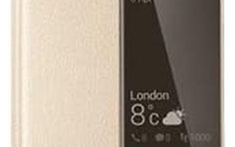 Pouzdro na mobil flipové Huawei Smart Cover pro P9 zlaté (51991509)
