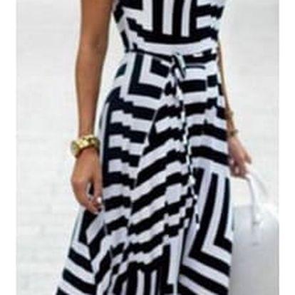 Dámské šaty s pruhy s úzkými ramínky - 7 barev