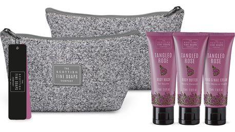 SCOTTISH FINE SOAPS Cestovní taštička s kosmetikou Tangled Rose, růžová barva