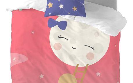 Dětské povlečení z čisté bavlny Happynois Moon Dream, 140x200cm
