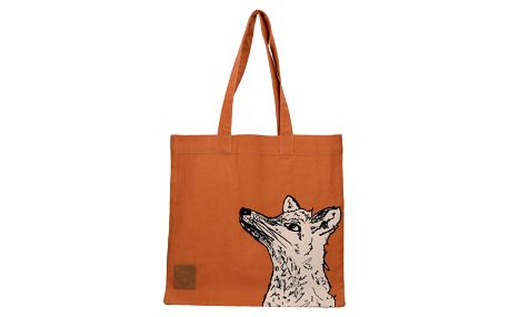 Oranžová plátěná taška Creative Tops Wild Fox