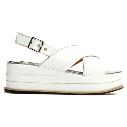 Dámské bílé sandály na platformě Silvia 9212