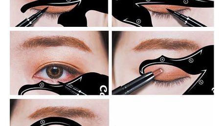 Multifunkční kočičí šablony na líčení očí