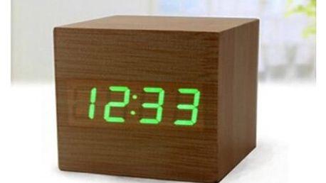 LED designové dřevěné hodiny s hlasovým ovládáním, které se hodí do každé domácnosti