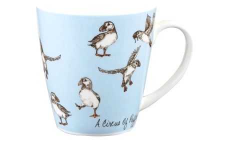 Hrnek z kostního porcelánu Churchill Crowd Cherry Puffins, 360 ml