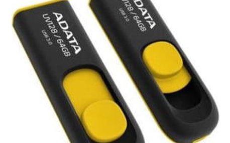 USB Flash ADATA UV128 64GB žlutý (AUV128-64G-RBY)