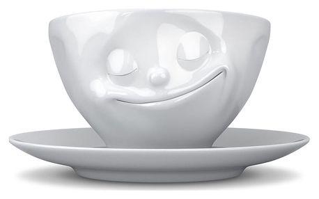 Bílý šťastný hrnek na kávu 58products