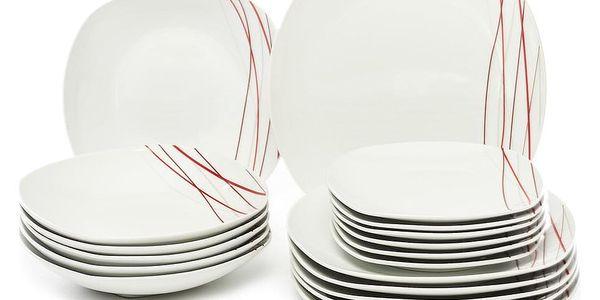 SENCILLA Jídelní souprava talířů z porcelánu 18dílná, MÄSER4