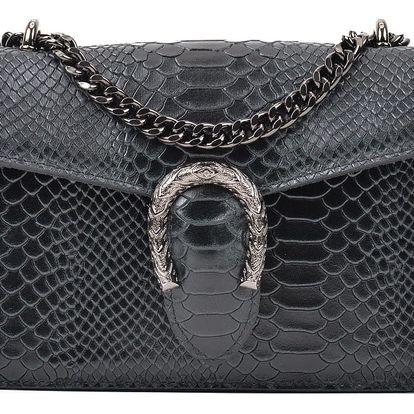 Černá kožená kabelka Renata Corsi Rita