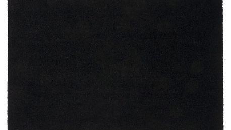 Černá rohožka Tica Copenhagen Unicolor, 60x90cm