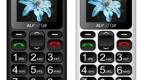 Mobilní telefon Aligator A321 Senior Dual SIM černý/šedý (A321GB)