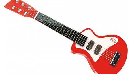 VILAC Dětský hudební nástroj – rock'n'roll kytara červená