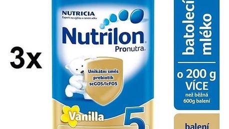 Nutrilon 5 Pronutra Vanilka, 800g x 3ks + DÁREK