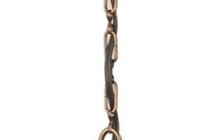 Skleněná ručně vyrobená závěsná lampa Phill, ⌀17cm