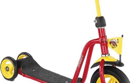 PUKY Koloběžka Scooter R 1, červená