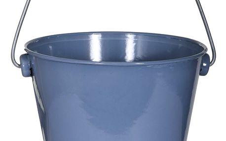 Modrý smaltovaný košík na mycí prostředky Garden Trading Utility Bucket Dorset