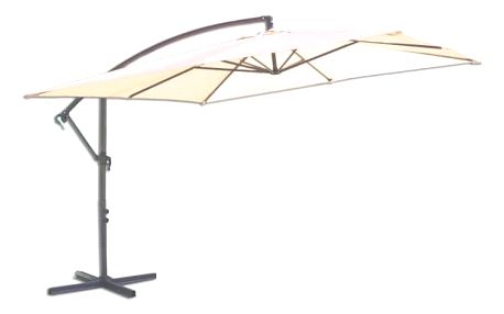 Tradgard 8080 Čtvercový slunečník boční béžový 270 x 270 cm