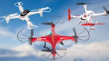 RC drony: s kamerou, LED světlem i vodotěsné