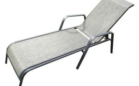 Tradgard ZWC-52 Zahradní lehátko kovové šedé