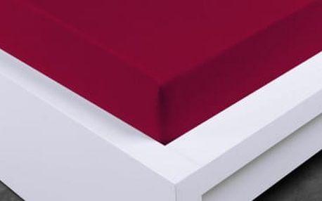 XPOSE ® Froté prostěradlo Exclusive - bordó 140x200 cm