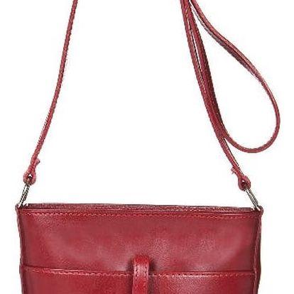 Červená kožená kabelka Markese Calf Mini