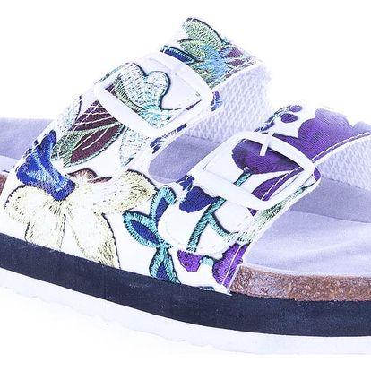 BIO Wonderful Dámské pantofle na korkově platformě letní