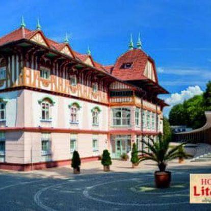 Hotel Litovel *** Luhačovice, nejkrásnější moravské lázně s polopenzí a masáží
