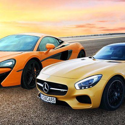 Testovací jízda ve vozech Mercedes AMG GTS a McLaren