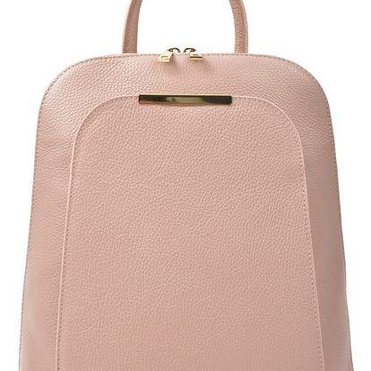 Růžový kožený batoh Renata Corsi Sallio