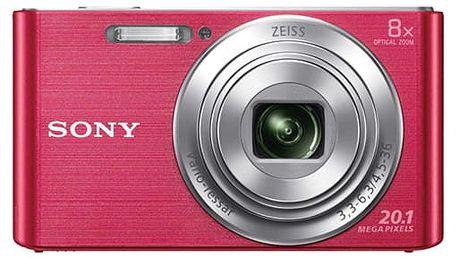 Digitální fotoaparát Sony Cyber-shot DSC-W830P růžový