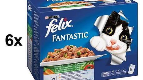 Felix Fantastic výběr se zeleninou 6 x (12 x 100g)