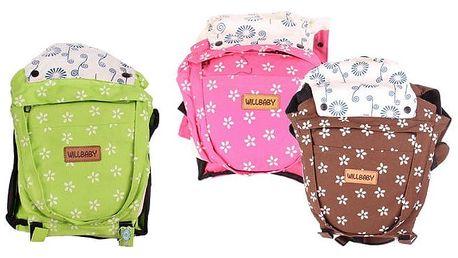 Dětské nosítko Willbaby s pevnou oporou v různých barvách