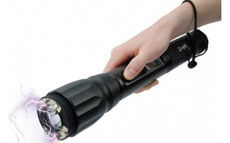 Obušek s paralyzérem a svítilnou HY-X8 - účinná sebeobrana!