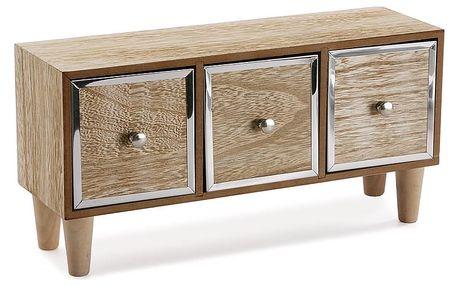 Dřevěná šperkovnice se třemi šuplíky VERSA Jewl