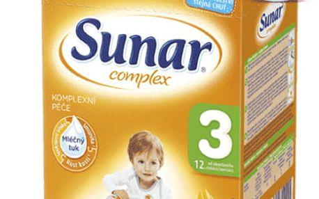 3x SUNAR Complex 3 BANÁN (600 g) – kojenecké mléko
