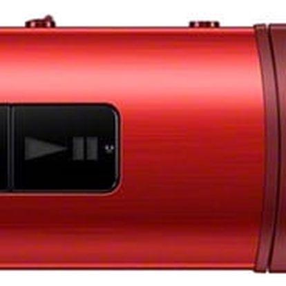 MP3 přehrávač Sony NWZ-B183FR červený
