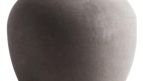 Tine K Home Váza z jílu Smoke Vietnam, hnědá barva, keramika