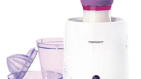 Ohřívač kojeneckých lahví Topcom 301 - 3v1 bílý/fialový (5411519012845)
