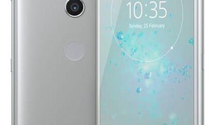 Mobilní telefon Sony Xperia XZ2 stříbrný + dárek (1313-8196)