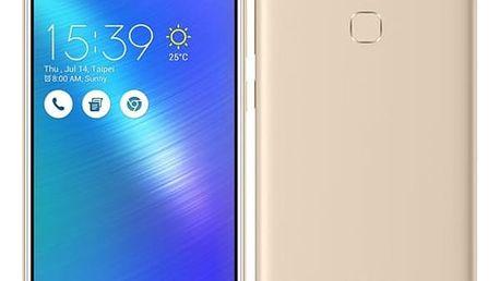 Mobilní telefon Asus ZenFone 3 Max ZC553KL zlatý + dárek (ZC553KL-4G032WW)